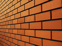 Brick wall. In the perspective Stock Images
