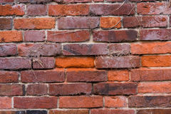 Brick wall. Old brick wall showing corrosion and age Stock Photos