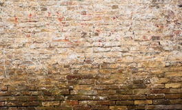 Brick wall. A brick wall with a dark grunge look Royalty Free Stock Photography
