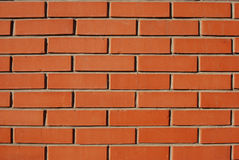 Brick wall 12. New red brick wall as background Stock Photo