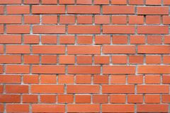 Brick wall. A horizontal picture. For backgrounds or textures Royalty Free Stock Photo