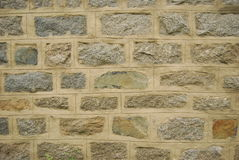 Brick wall. Exterior of modern cemented brick wall Royalty Free Stock Images