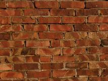 Brick Wall. In early morning light Stock Photography