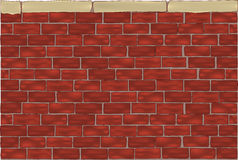 Brick wall. Architecture backgrounds block Stock Photography