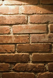 Brick wall. Background close up in a restaurant royalty free stock images