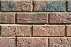 Brick wall. Section of an old brick wall. background texture Royalty Free Stock Photography