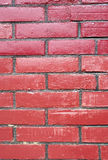 Brick wall. In red background texture stock photography