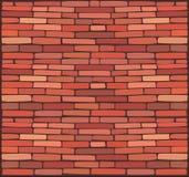 Brick wall. Vector red brick wall background Royalty Free Stock Photo