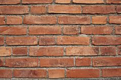A red brick wall, landscape. stock images