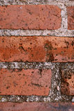 Brick Wall. Close up of Old Destroyed Brick Wall royalty free stock photo