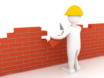 Brick wall. 3d rendered image Stock Images