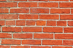 Brick Wall. Red orange brick wall for background Stock Photos
