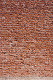 Brick Wall. A textured red brick wall background Stock Images