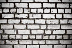 Brick wall. Old white textured brick wall Royalty Free Stock Photography