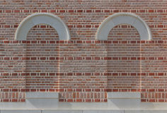 Brick Wall. With Arches over False Doors (or Window Royalty Free Stock Images