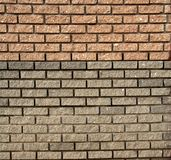Brick Wall. The facade view of the brick wall for design background Stock Photography