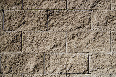 Brick wall. Wall made from concrete bricks, can be a house castle, industrial structure Stock Image