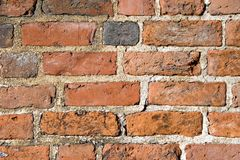 Brick Wall. Pattern. Close up Royalty Free Stock Photo