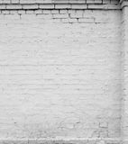 Brick wall. White brick wall, close up, with stucco Royalty Free Stock Images
