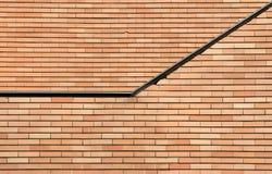 Brick wall. A brick wall of modern building Stock Photos
