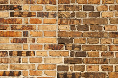 Brick wall. Textured brick wall in the sunshine Royalty Free Stock Photo