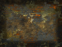 Brick wall. Abstract generated obsolete brick wall crash grunge background Stock Images