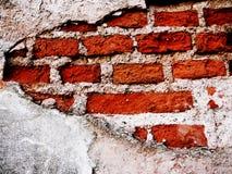 Brick wall. Old brick wall, stucco was peel off Royalty Free Stock Photo
