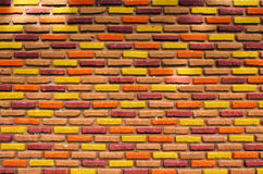 Brick wall. Grunge industrial interior Uneven diffuse lighting version. Design component Royalty Free Stock Photos