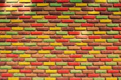 Brick wall. Grunge industrial interior Uneven diffuse lighting version. Design component Royalty Free Stock Image