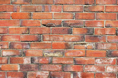 Brick wall. An old worn brick wall stock photography