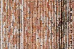 Brick wall. Close up photo of a red brick wall texture Stock Photo