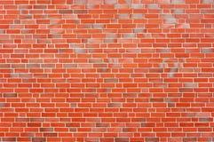 Brick wall. A wall of red bricks Stock Images