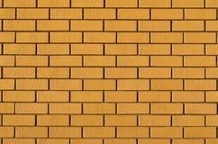 Brick Wall. A section of a yellow brick wall Royalty Free Stock Image