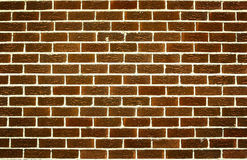Brick wall. Background. Brown bricks Stock Photos