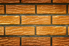 Brick wall. Background. Brown bricks Royalty Free Stock Image