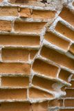 Brick wall. The old cracked Brick wall Royalty Free Stock Images