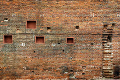 Brick wall. Of an ancient building Royalty Free Stock Images
