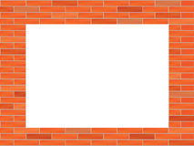 Brick wall. With big hole illustration Royalty Free Stock Image