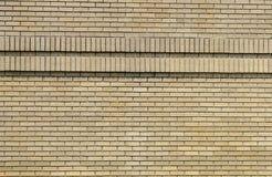 Brick Wall 2a. Close up of tan brick wall with mortar Royalty Free Stock Photo