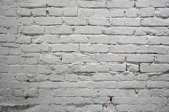 Brick wall. Painted white old brick wall Stock Photo