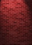 Brick Wall. Under street light illustration Stock Images