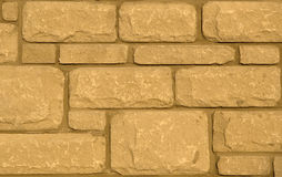 Brick Wall. With irregular sized bricks Royalty Free Stock Photography