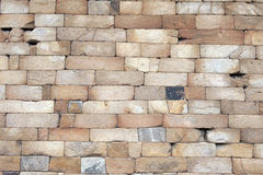 Brick wall. With some damage and cracks royalty free stock photography