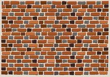 Brick wall. Illustration of retro wall pattern with brown bricks Vector Illustration