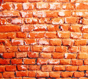 Brick wall. Old brick wall close up Stock Image