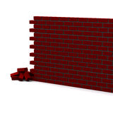 Brick wall 3d Royalty Free Stock Photos