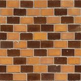Brick Wall 44, seamless. Seamless photo of an ornamented brick wall, early 19th century Stock Photos