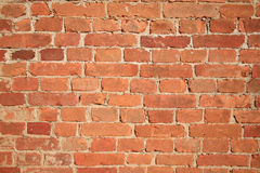 Brick wall. From a red brick Royalty Free Stock Image