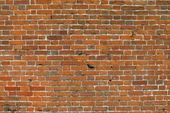 Brick wall. An old red brick wall Royalty Free Stock Photos