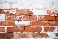 Brick Wall. Partially painted aged brick wall Royalty Free Stock Images